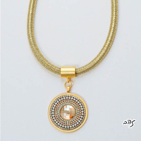 שרשרת ועגילי מנדלה זהב