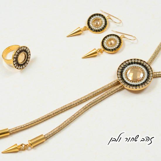 שרשרת מנדלה עניבה טבעת ועגילי מנדלה
